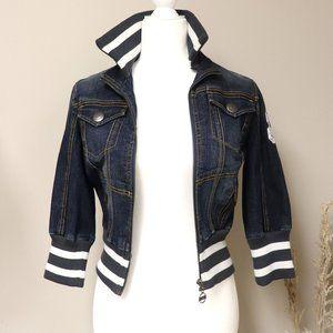 DKNY Sporty Cropped Denim Jacket (Size M)